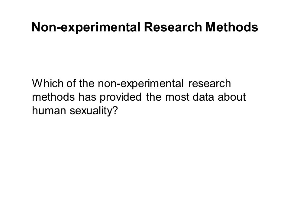 Non-experimental Research Methods