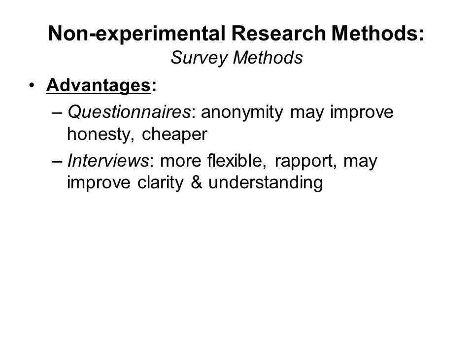 advantages of experimental research