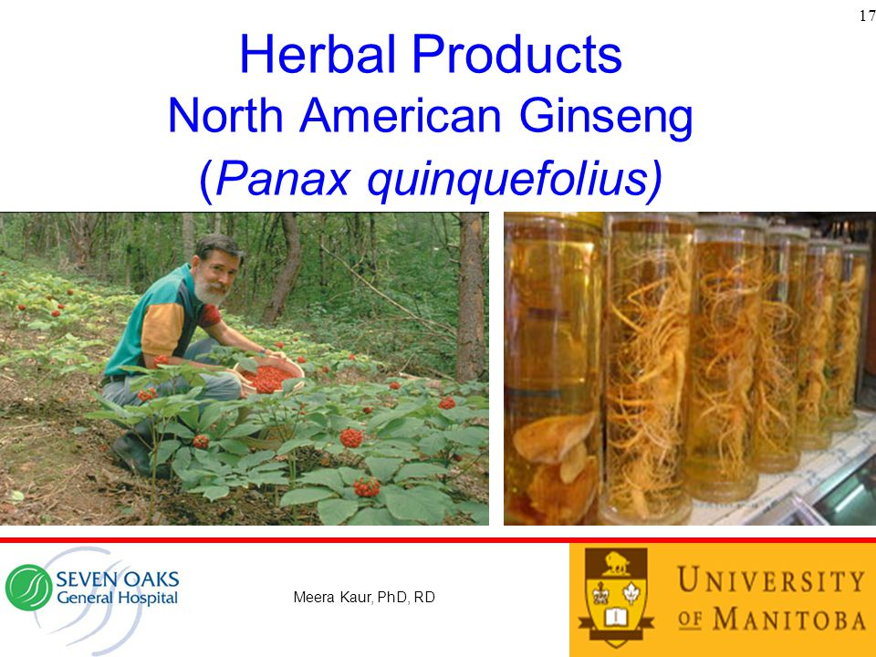 Herbal Products North American Ginseng (Panax quinquefolius)