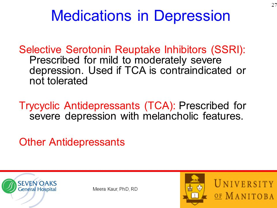 Medications in Depression