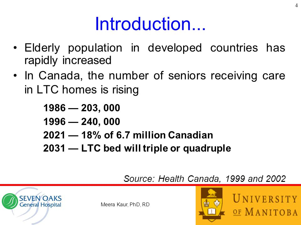 4 Introduction... Elderly population in developed countries has rapidly increased.