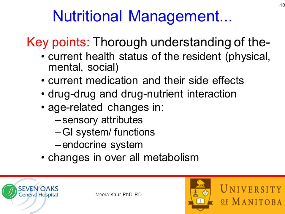 Nutritional Management...