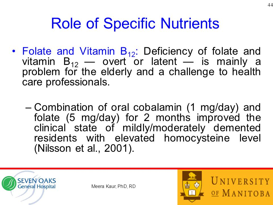 Role of Specific Nutrients