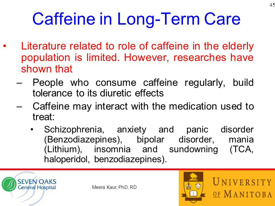 Caffeine in Long-Term Care