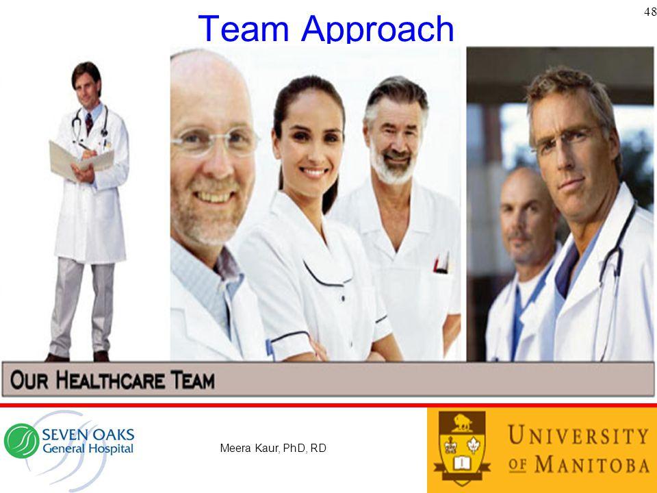 Team Approach 48 Meera Kaur, PhD, RD