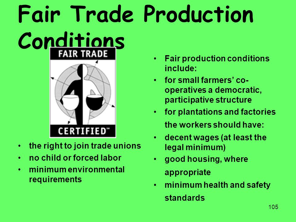 Fair Trade Production Conditions