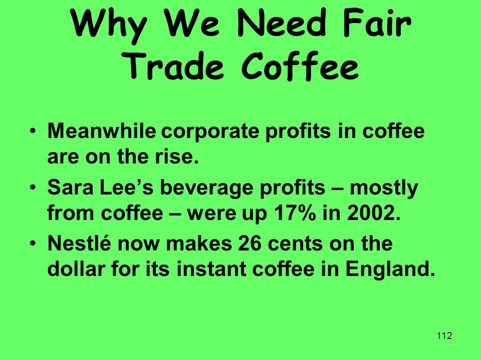 Why We Need Fair Trade Coffee