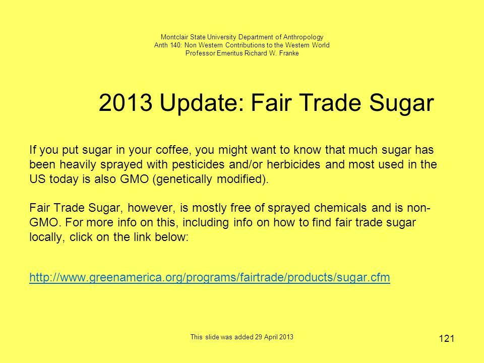 2013 Update: Fair Trade Sugar
