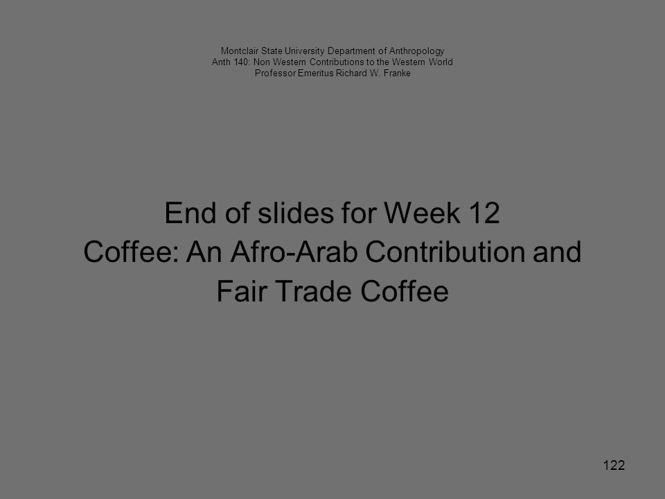 Coffee: An Afro-Arab Contribution and