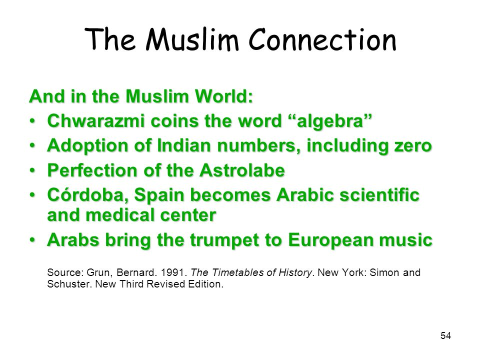 The Muslim Connection And in the Muslim World: