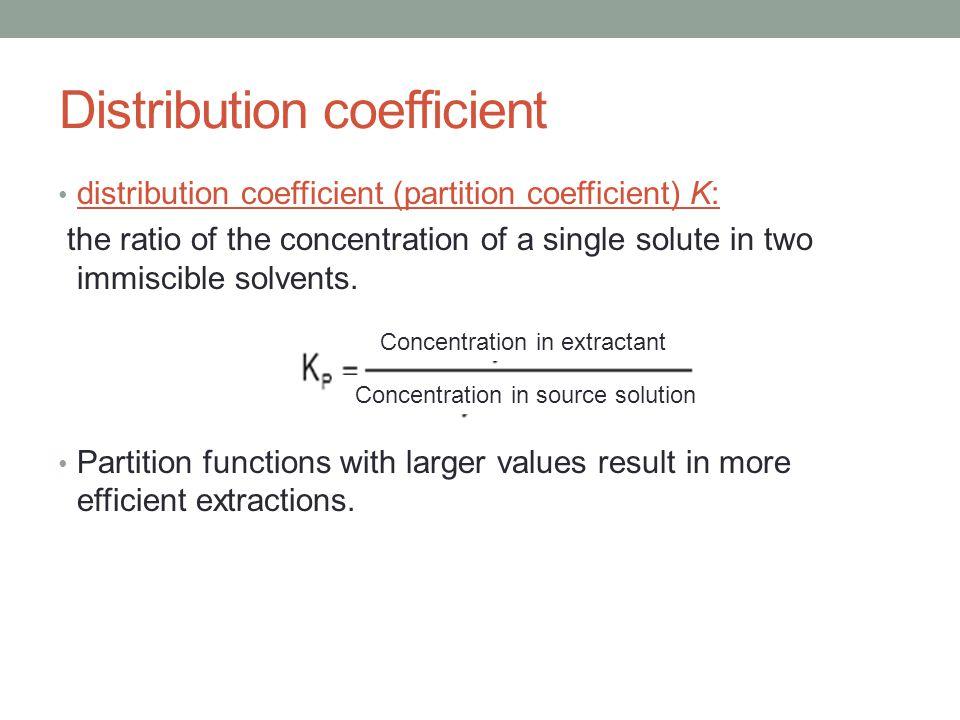 Distribution coefficient