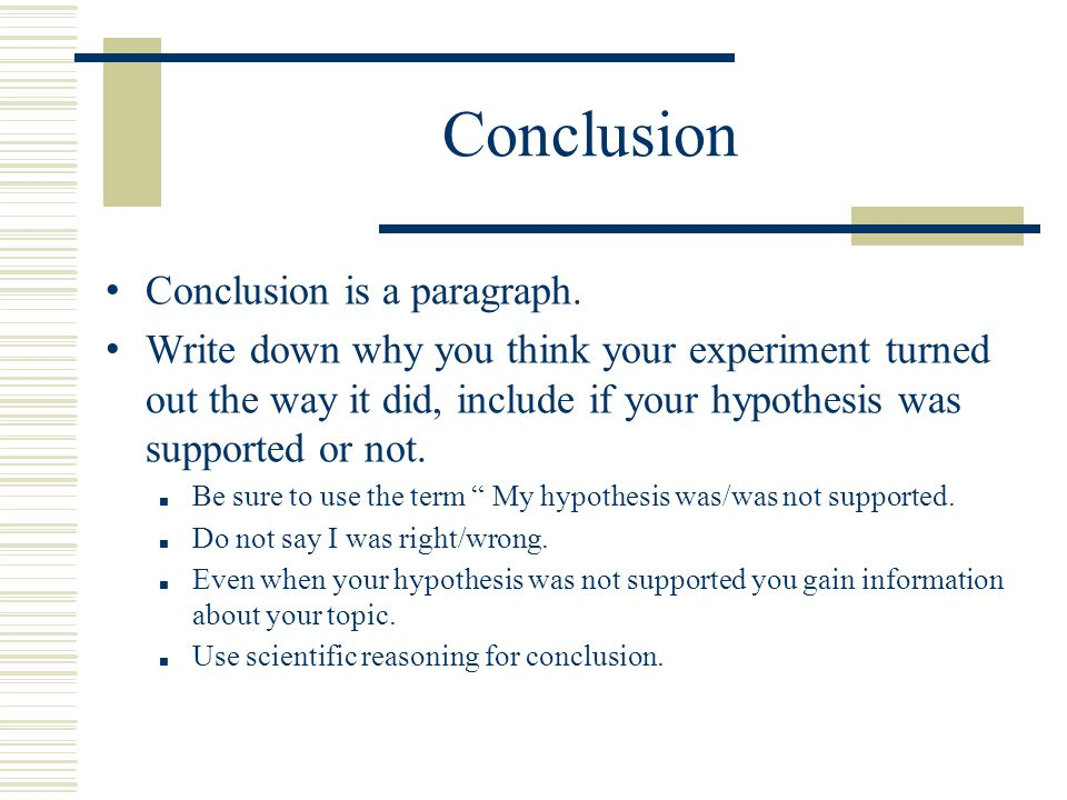 Conclusion Conclusion is a paragraph.