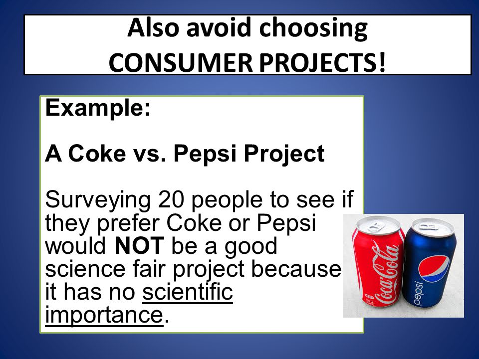 Also avoid choosing CONSUMER PROJECTS!