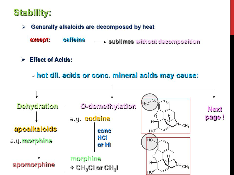 Stability: hot dil. acids or conc. mineral acids may cause: