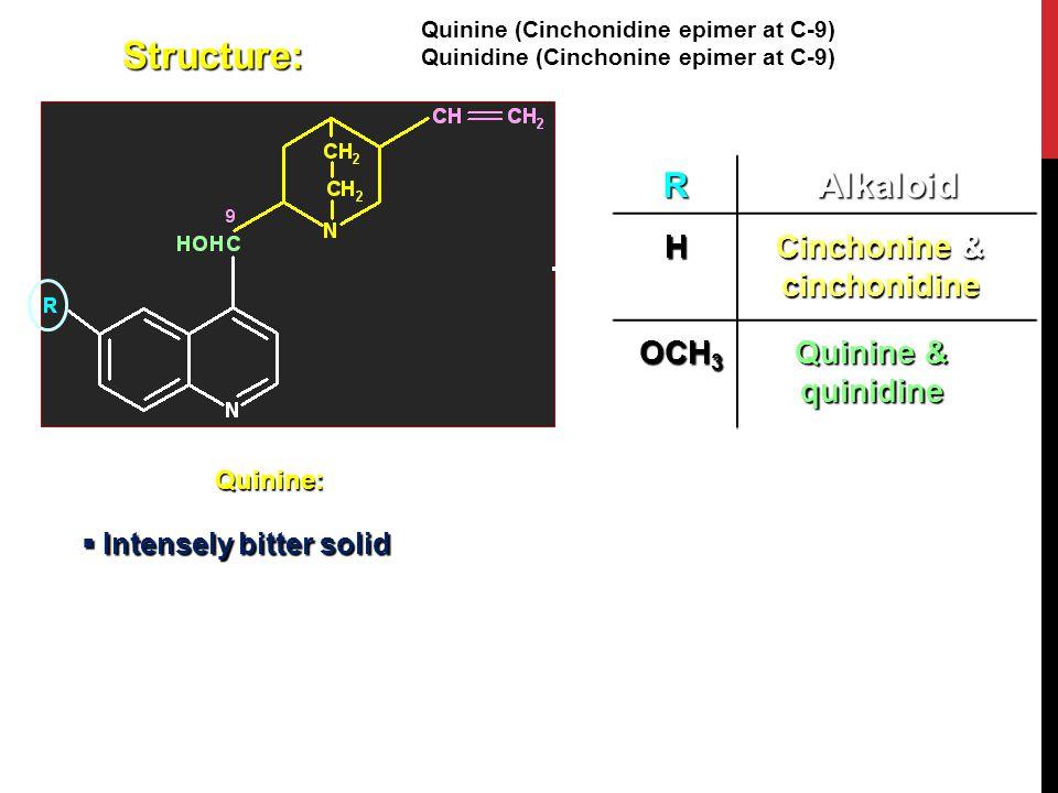 Cinchonine & cinchonidine