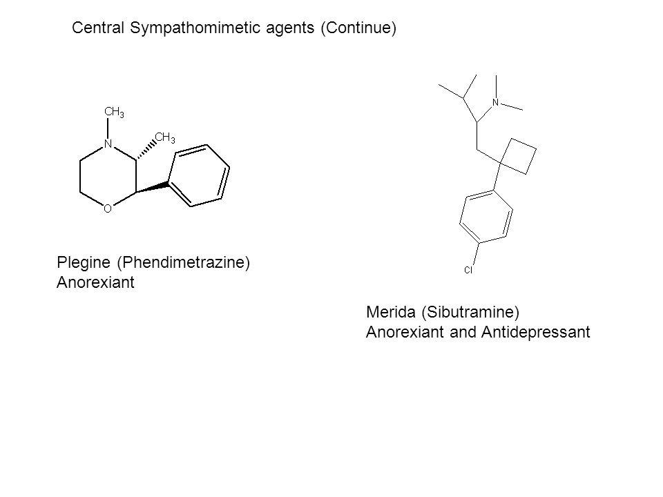 Central Sympathomimetic agents (Continue)