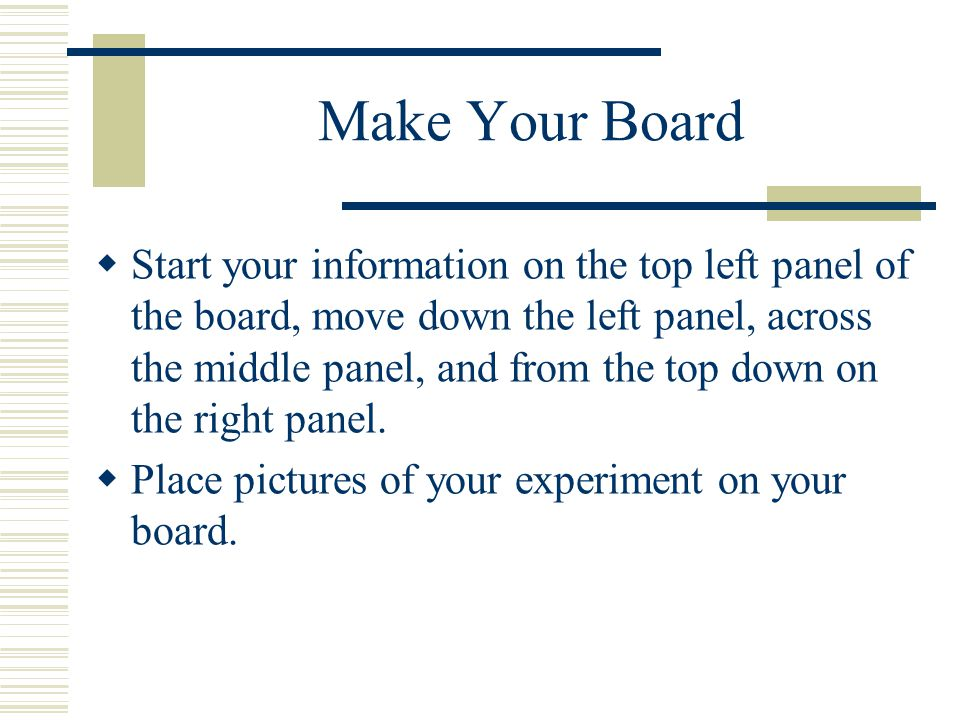 Make Your Board