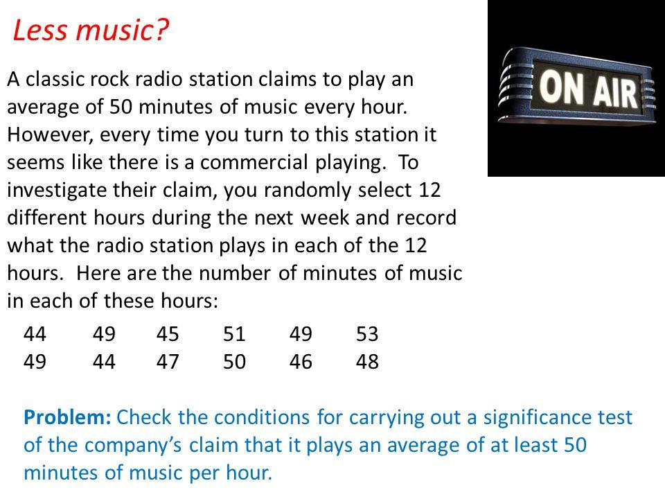 Less music