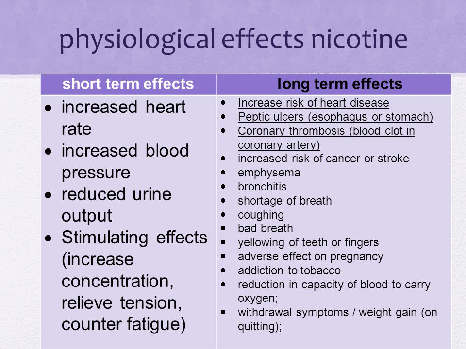 physiological effects nicotine