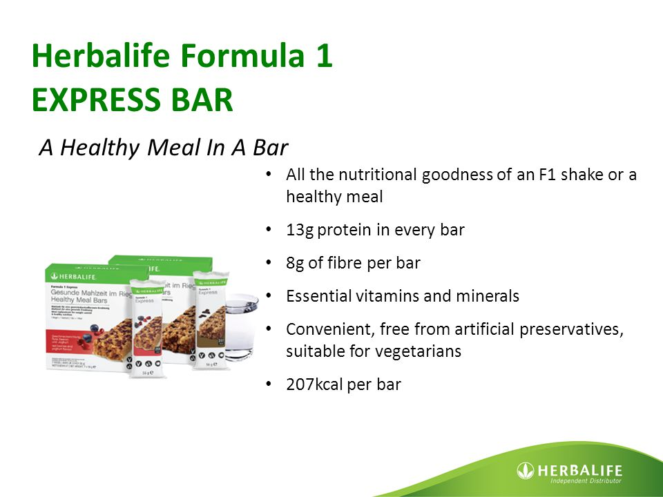 Herbalife Formula 1 EXPRESS BAR A Healthy Meal In A Bar