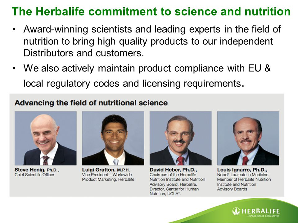 The Herbalife commitment to science and nutrition