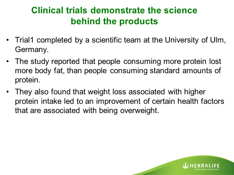 Clinical trials demonstrate the science behind the products