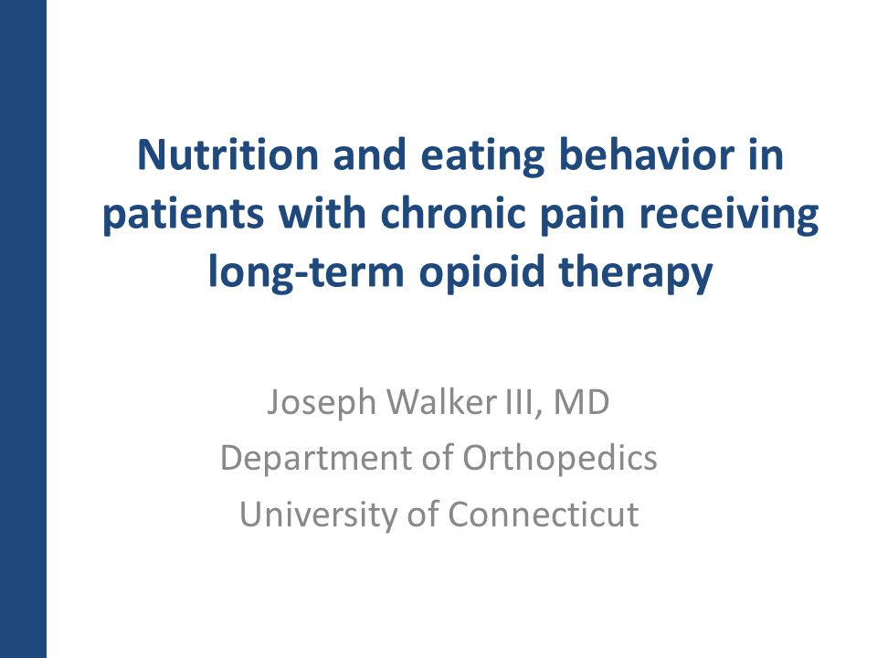 Nutrition and eating behavior in patients with chronic pain receiving long-term opioid therapy