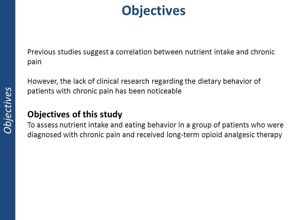 Objectives Objectives Objectives of this study