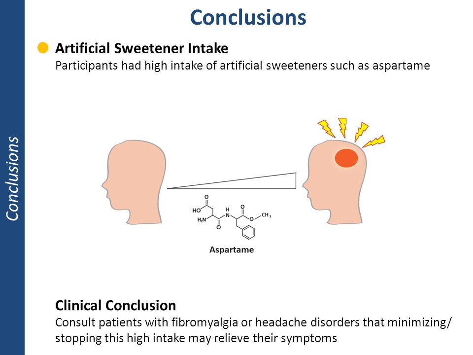 Conclusions Conclusions Artificial Sweetener Intake