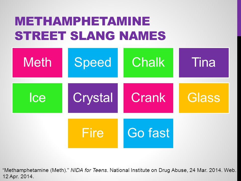 Methamphetamine Street Slang Names