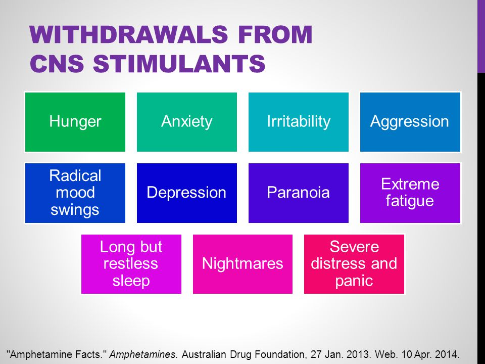 Withdrawals From CNS Stimulants