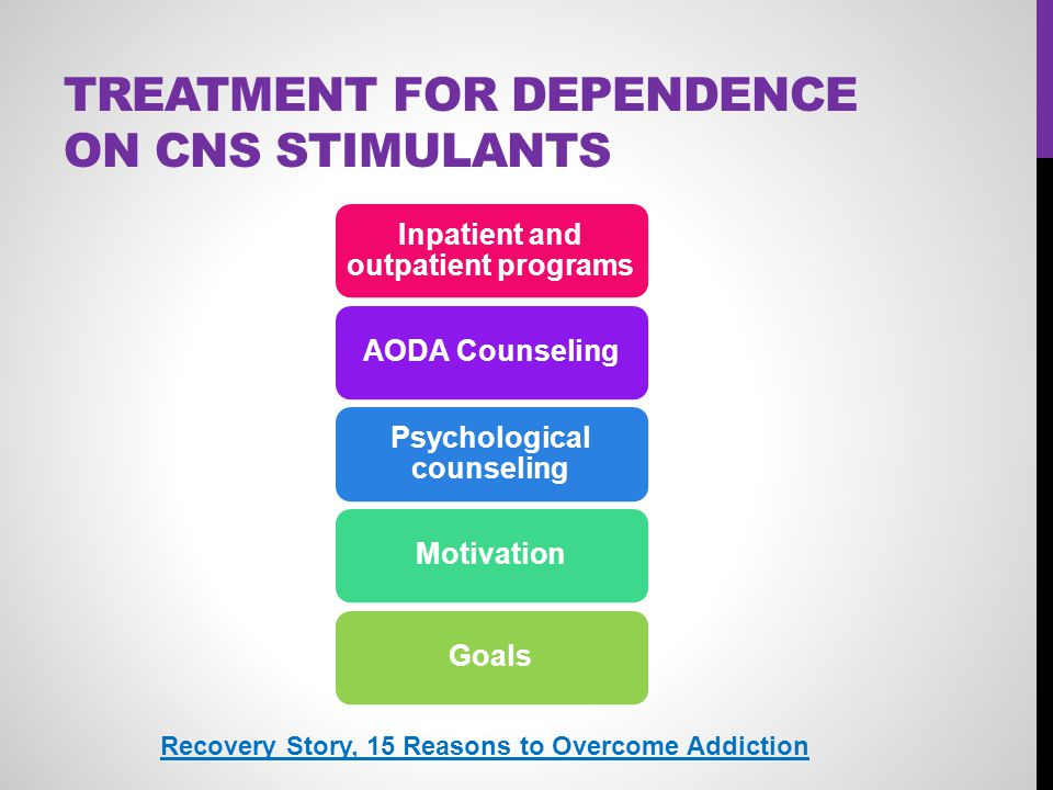 Treatment for Dependence on CNS Stimulants