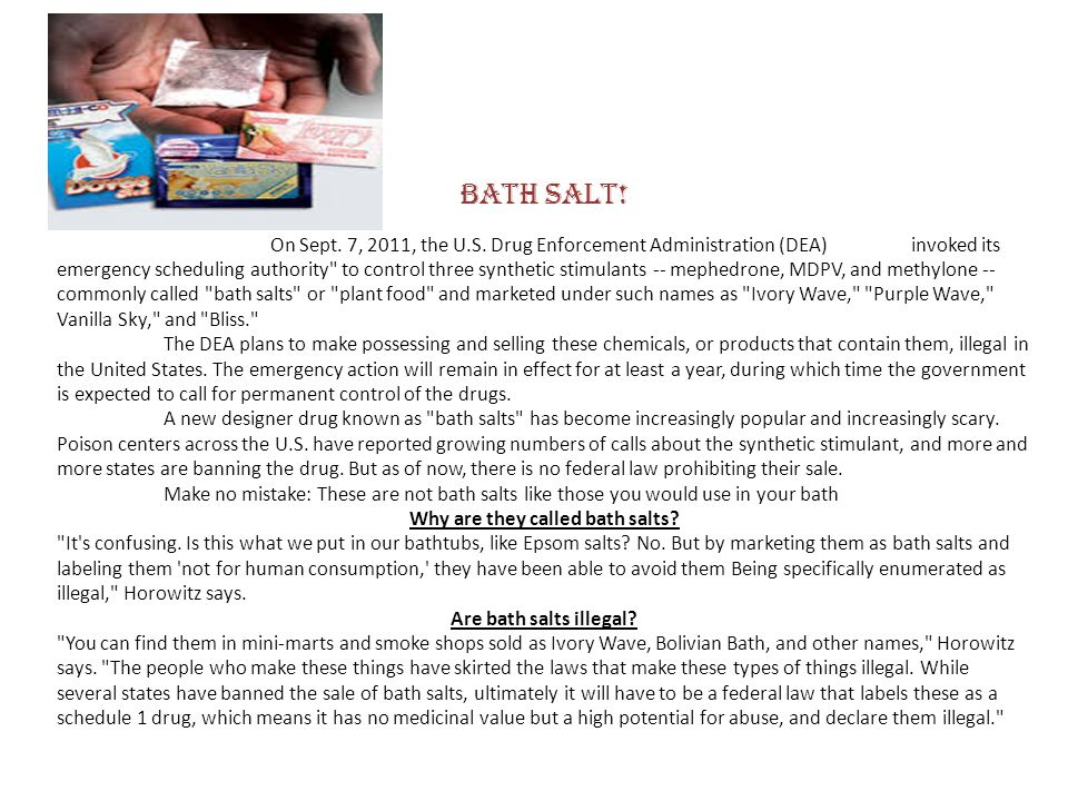 Why are they called bath salts