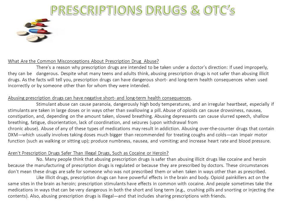 PRESCRIPTIONS DRUGS & OTC's