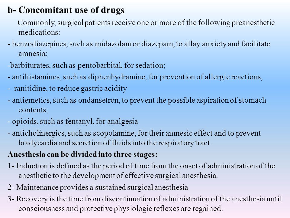 b- Concomitant use of drugs
