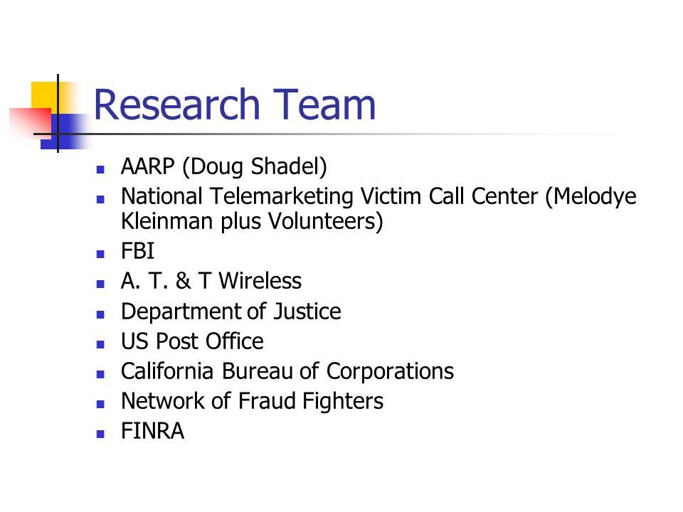 Research Team AARP (Doug Shadel)