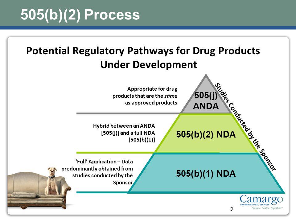 Potential Regulatory Pathways for Drug Products Under Development