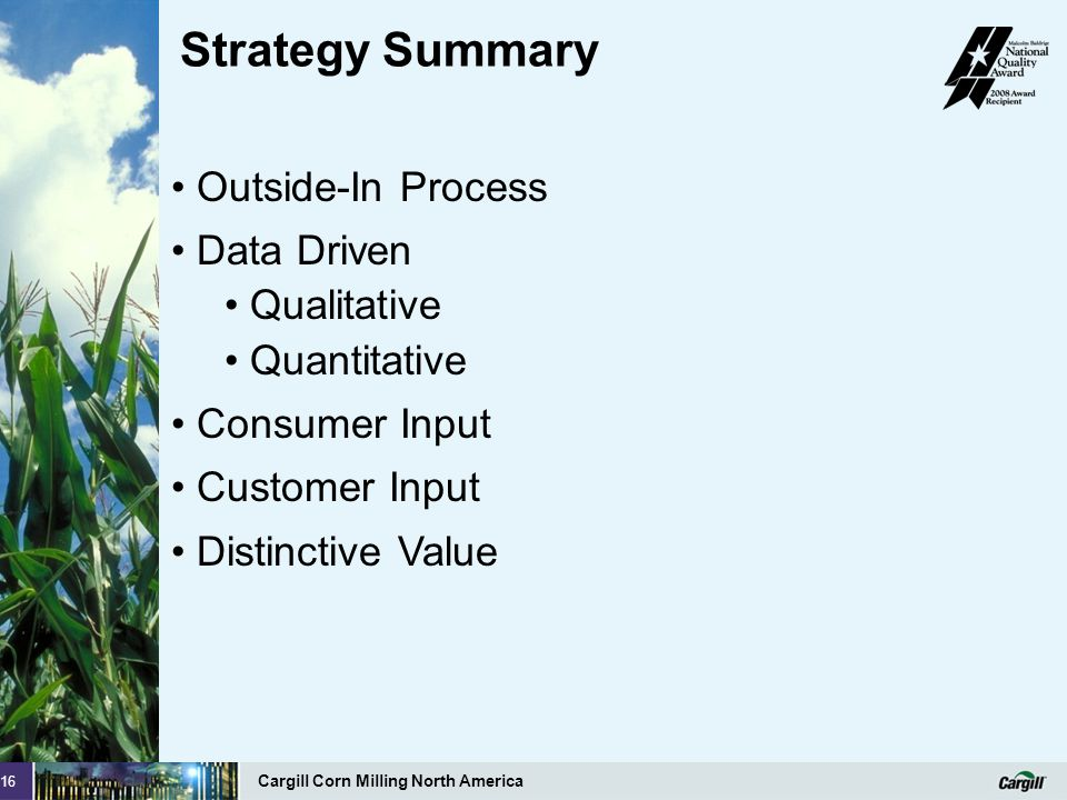Strategy Summary Outside-In Process Data Driven Qualitative