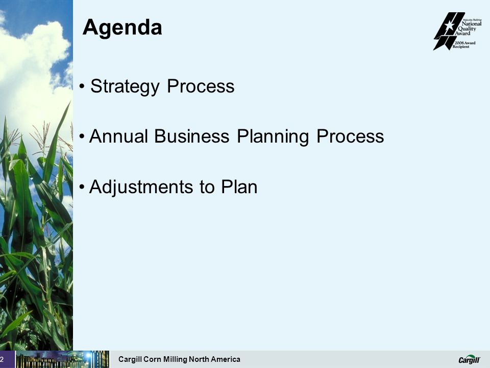 Agenda Strategy Process Annual Business Planning Process