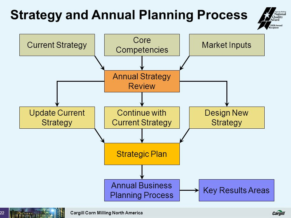 Strategy and Annual Planning Process