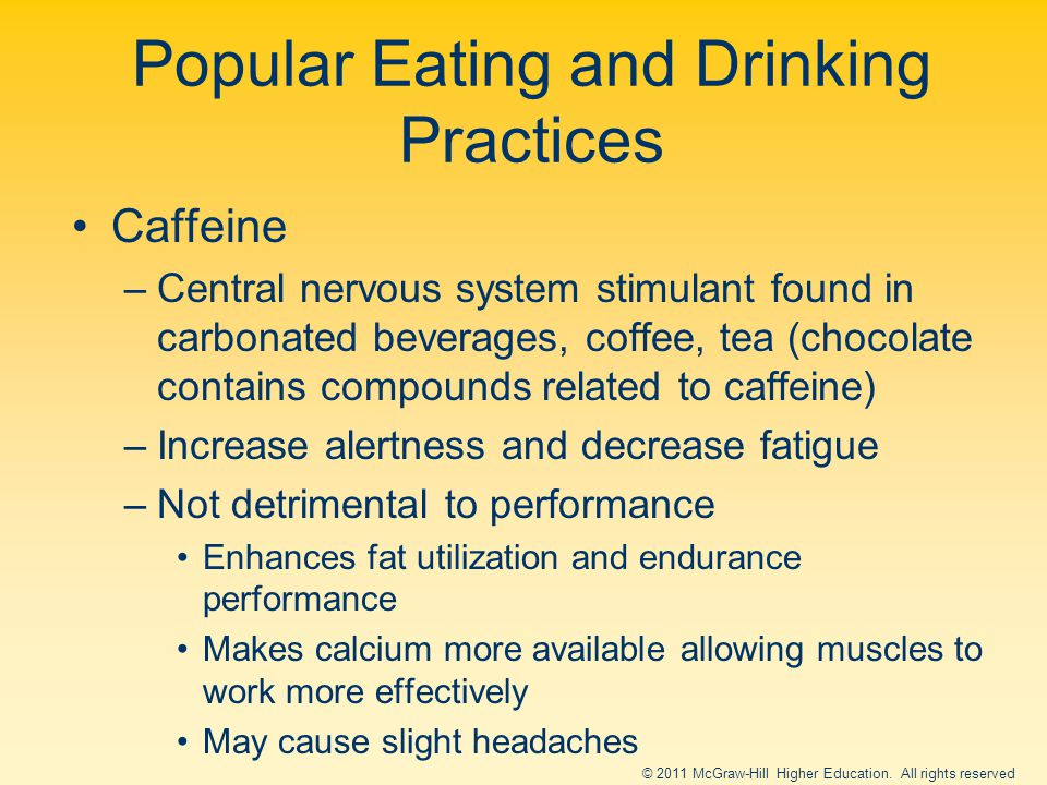 Popular Eating and Drinking Practices