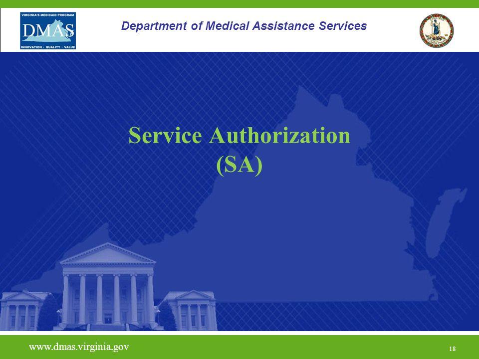 Service Authorization (SA)