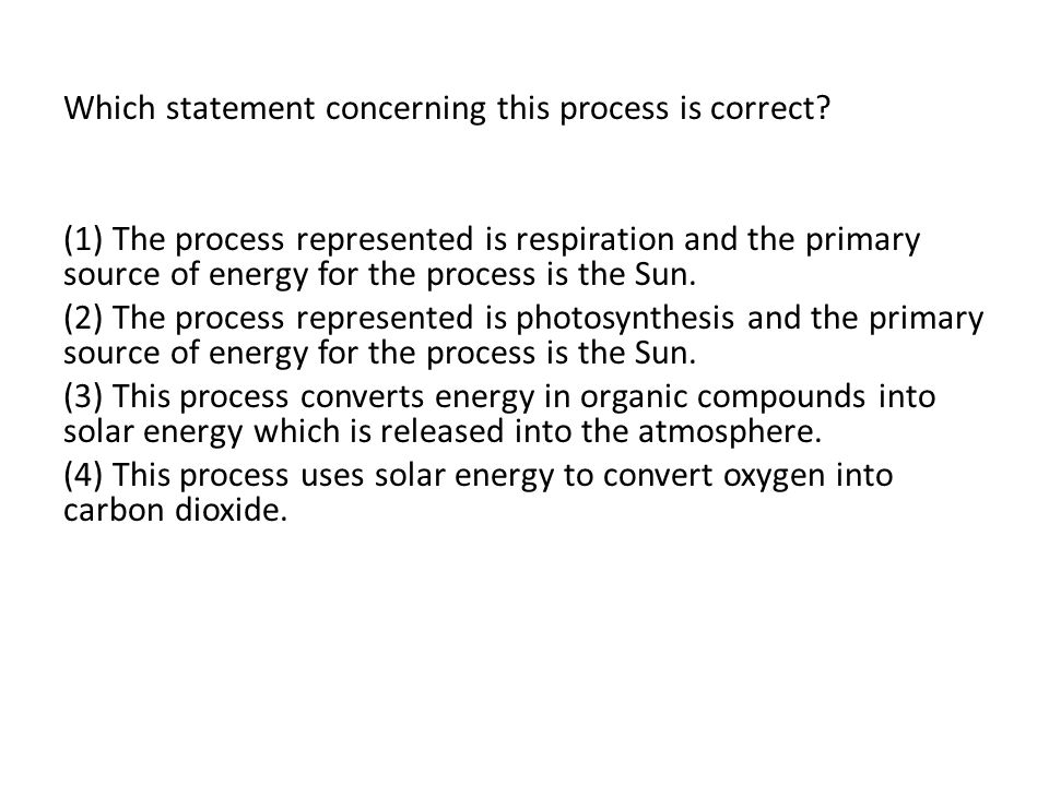 Which statement concerning this process is correct