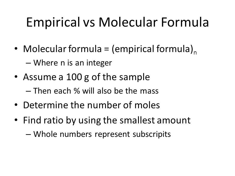 Empirical vs Molecular Formula