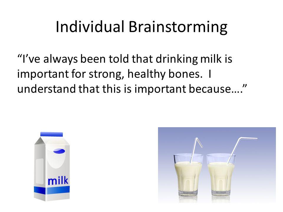 Individual Brainstorming
