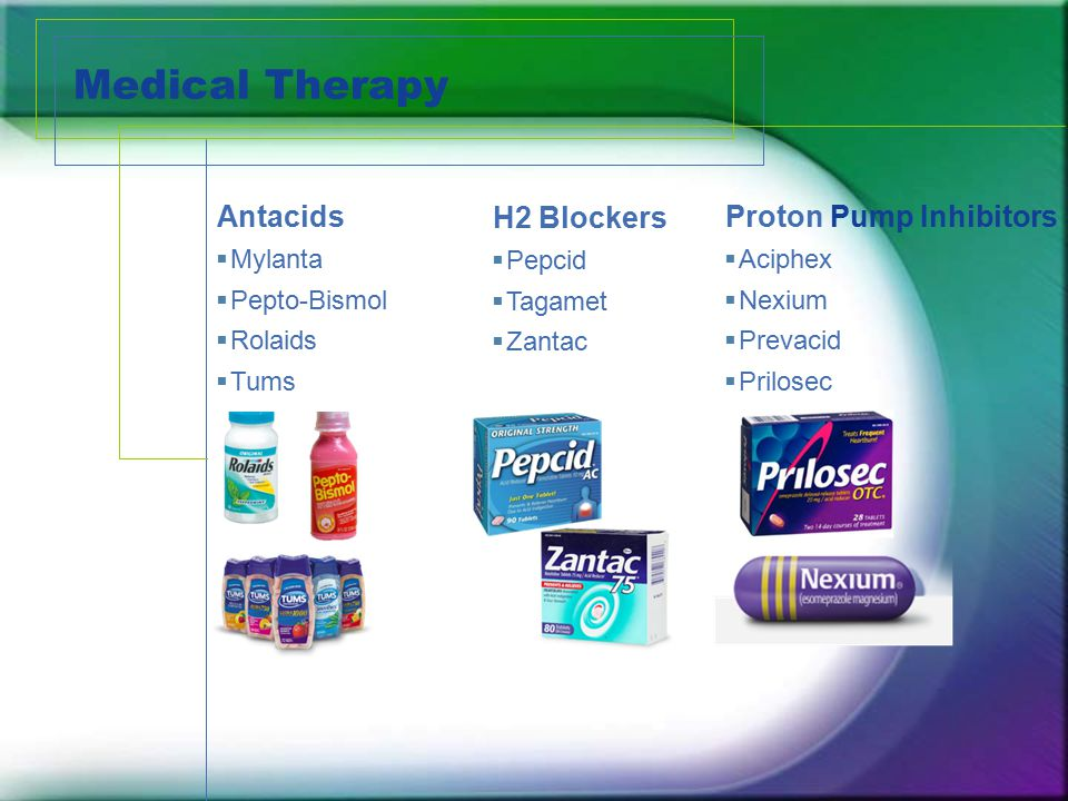 Medical Therapy Antacids H2 Blockers Proton Pump Inhibitors Mylanta