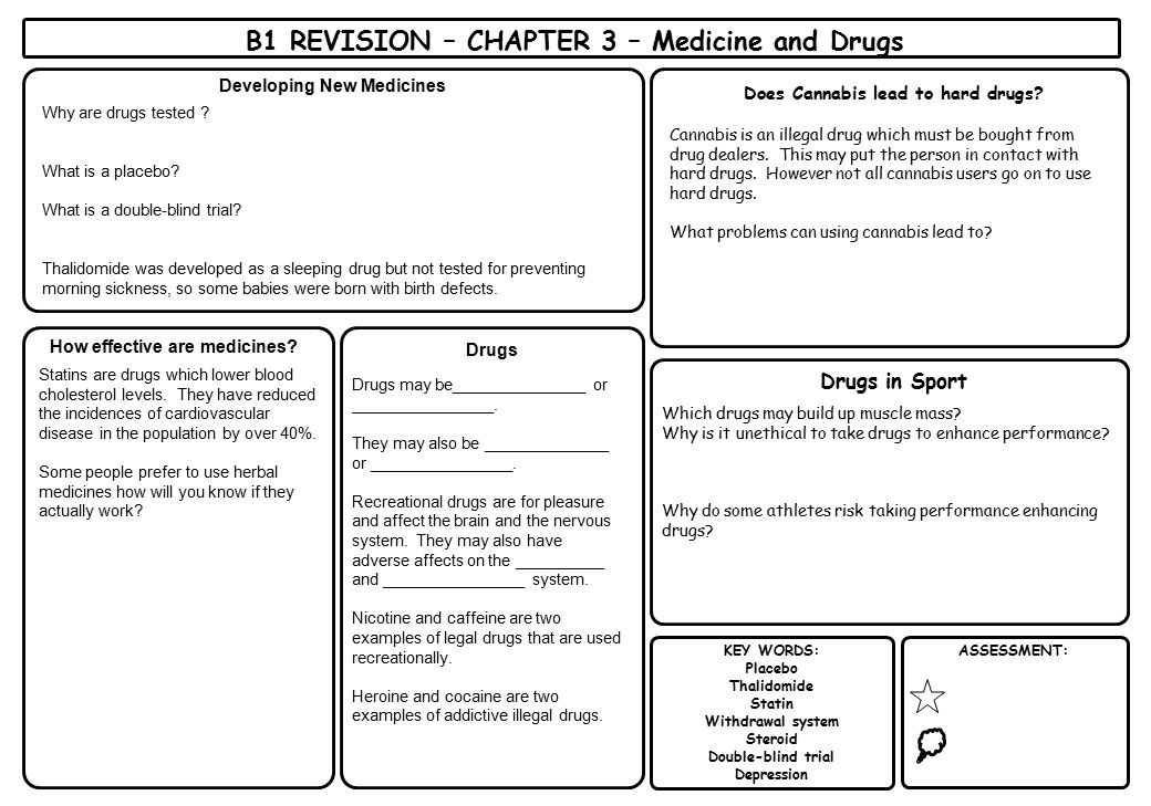 B1 REVISION – CHAPTER 3 – Medicine and Drugs