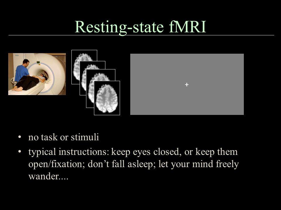 Resting-state fMRI no task or stimuli