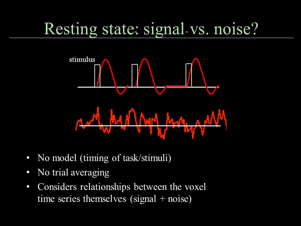 Resting state: signal vs. noise