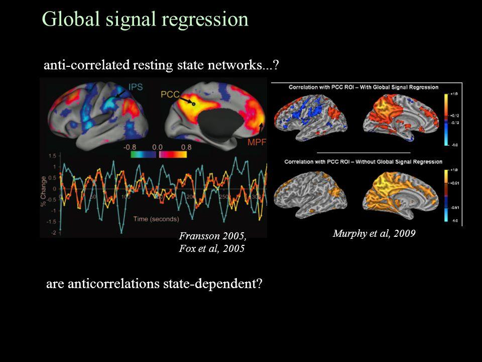 Global signal regression